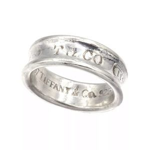 Tiffany & Co 925 Sterling Silver Concave Ring Sz 7